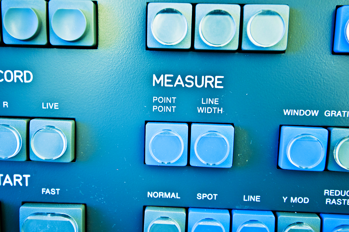 High Resolution Console In Master Control Room - Measure Buttons