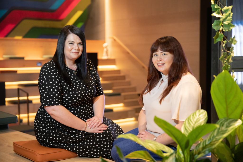 IC's new Head of Healthcare Sarah Learoyd and B2B specialist Leah Wong